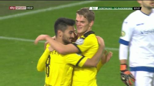 Ilkay Gündogan & Matthias Ginter – Dortmund v Paderborn –DFB Pokal 15-16 2