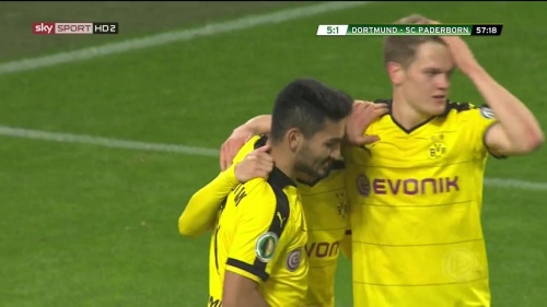 Ilkay Gündogan & Matthias Ginter – Dortmund v Paderborn –DFB Pokal 15-16 3