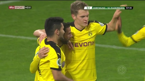 Ilkay Gündogan & Matthias Ginter – Dortmund v Paderborn –DFB Pokal 15-16 5