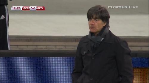 Joachim Löw – Germany v Georgia 1st half 10