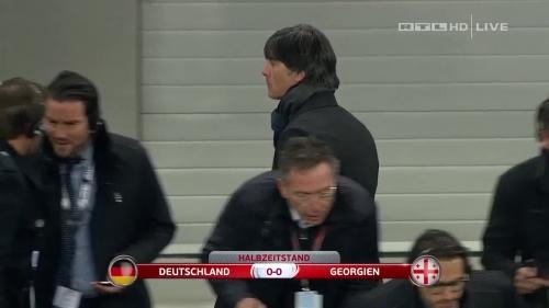 Joachim Löw – Germany v Georgia 1st half 15