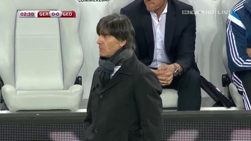 Joachim Löw – Germany v Georgia 1st half 8