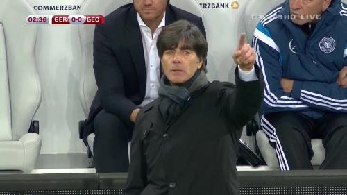 Joachim Löw – Germany v Georgia 1st half 9