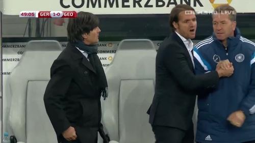 Joachim Löw – Germany v Georgia 2nd half 1