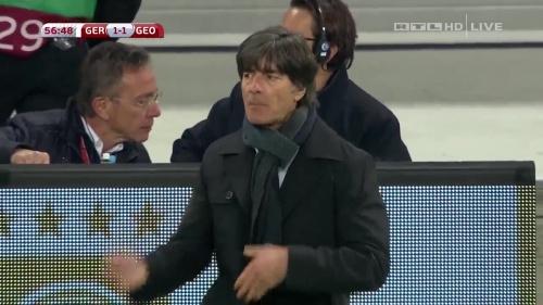 Joachim Löw – Germany v Georgia 2nd half 10