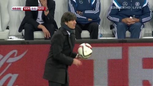 Joachim Löw – Germany v Georgia 2nd half 13