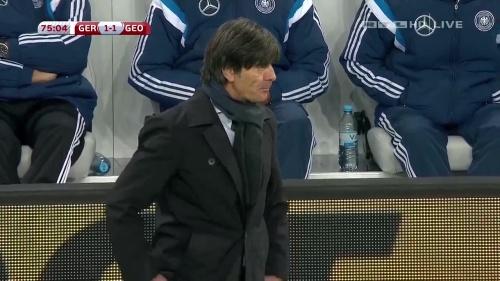 Joachim Löw – Germany v Georgia 2nd half 15