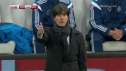 Joachim Löw – Germany v Georgia 2nd half 5