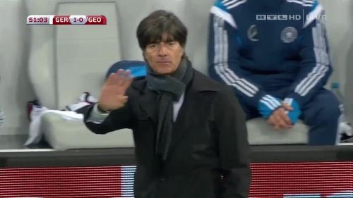 Joachim Löw – Germany v Georgia 2nd half 6