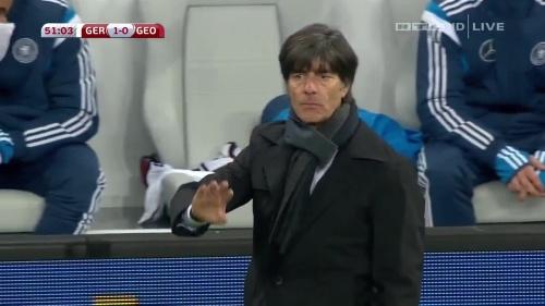Joachim Löw – Germany v Georgia 2nd half 7