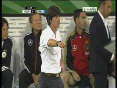 Joachim Löw - Germany v Uruguay 46