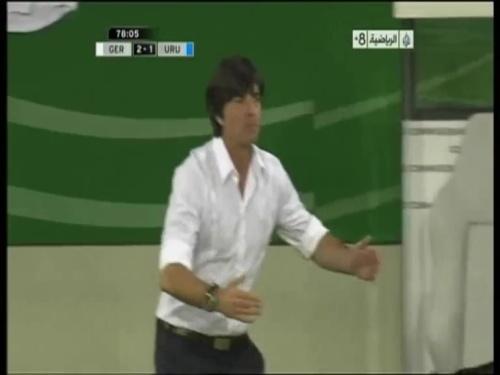 Joachim Löw - Germany v Uruguay 47