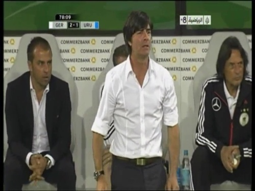 Joachim Löw & Hansi Flick - Germany v Uruguay 1