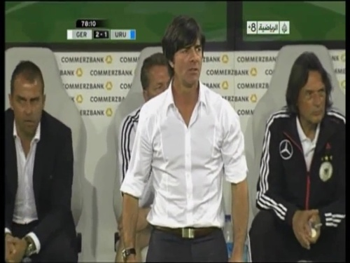 Joachim Löw & Hansi Flick - Germany v Uruguay 2