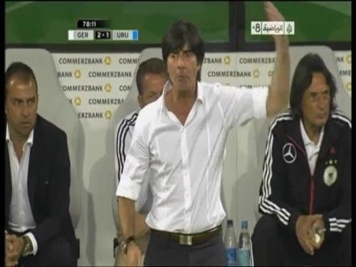 Joachim Löw & Hansi Flick - Germany v Uruguay 3