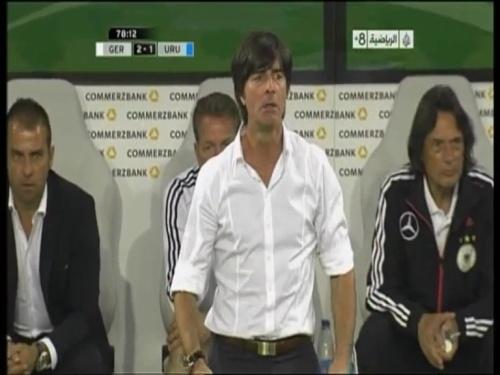 Joachim Löw & Hansi Flick - Germany v Uruguay 4
