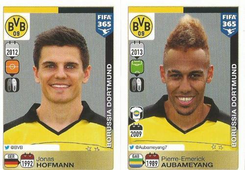 Jonas Hofmann-Pierre-Emerick Aubameyang - BVB - FIFA 365 sticker