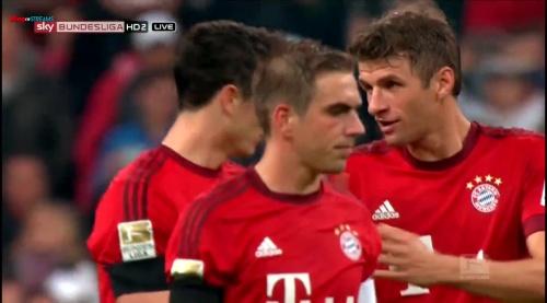 Lahm, Lewandowski & Müller – Bayern v Wolfsburg 3