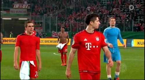 Lahm, Lewandowski & Neuer – Wolfsburg v Bayern (DFB Pokal 15-16) 1