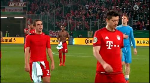 Lahm, Lewandowski & Neuer – Wolfsburg v Bayern (DFB Pokal 15-16) 2