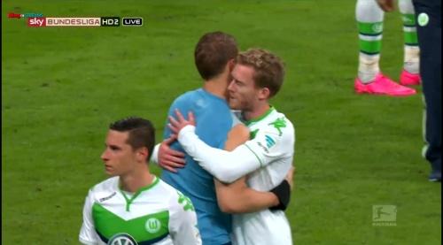 Manuel Neuer & Andre Schürrle – Bayern v Wolfsburg 1