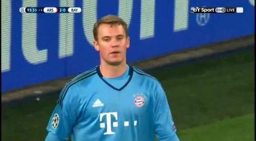 Manuel Neuer - Arsenal v Bayern 28