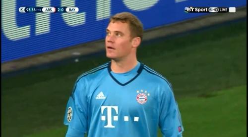 Manuel Neuer - Arsenal v Bayern 29