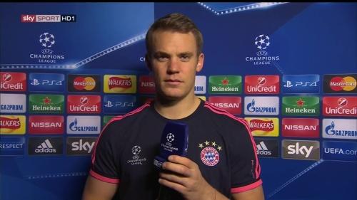 Manuel Neuer - post-match interview - Arsenal v Bayern 1