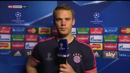 Manuel Neuer - post-match interview - Arsenal v Bayern 2