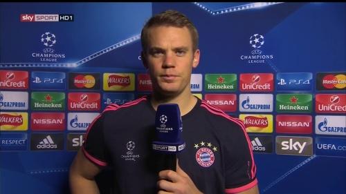 Manuel Neuer - post-match interview - Arsenal v Bayern 2