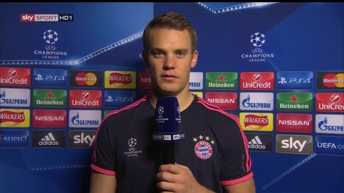 Manuel Neuer - post-match interview - Arsenal v Bayern 3