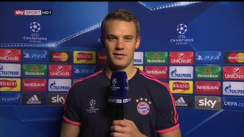 Manuel Neuer - post-match interview - Arsenal v Bayern 4