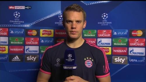 Manuel Neuer - post-match interview - Arsenal v Bayern 5