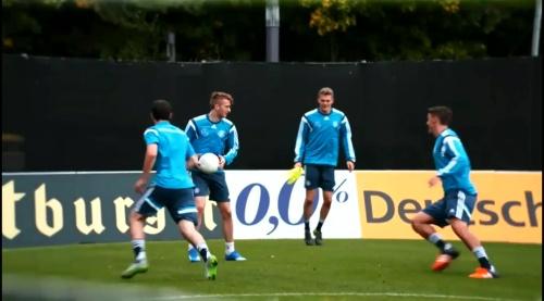 Marco Reus, Matthias Ginter & Max Kruse - training in Frankfurt