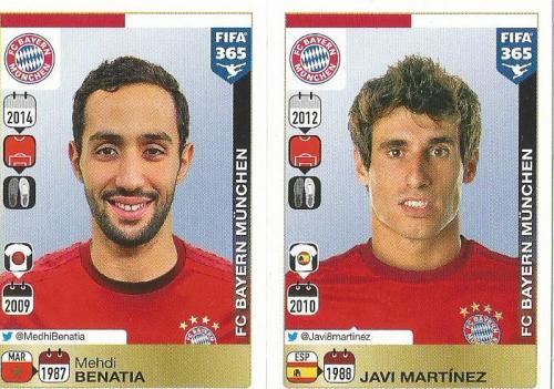 Mehdi Benatia-Javi Martinez - Bayern - FIFA 365 sticker