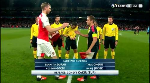 Per Mertesacker & Philipp Lahm - Arsenal v Bayern 1