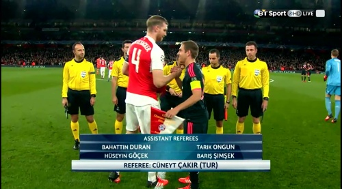 Per Mertesacker & Philipp Lahm - Arsenal v Bayern 2