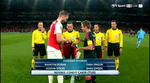 Per Mertesacker & Philipp Lahm - Arsenal v Bayern 3