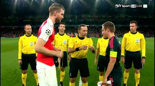 Per Mertesacker & Philipp Lahm - Arsenal v Bayern 4