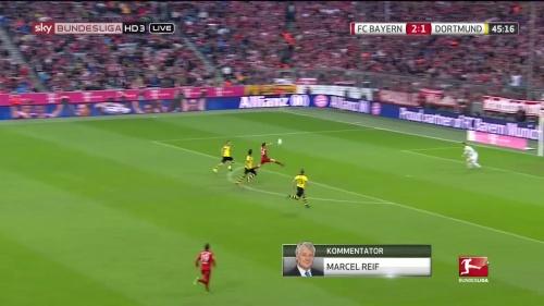 Robert Lewandowski – 1st goal – Bayern v Dortmund 1