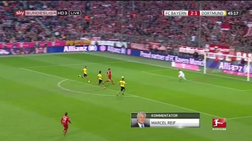 Robert Lewandowski – 1st goal – Bayern v Dortmund 2