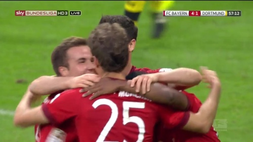 Robert Lewandowski – 2nd goal celebrations – Bayern v Dortmund 2