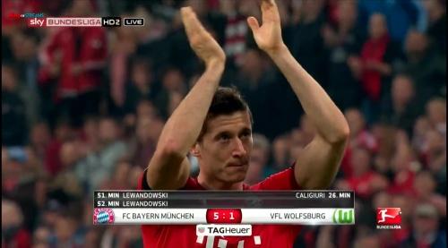 Robert Lewandowski – Bayern v Wolfsburg 3