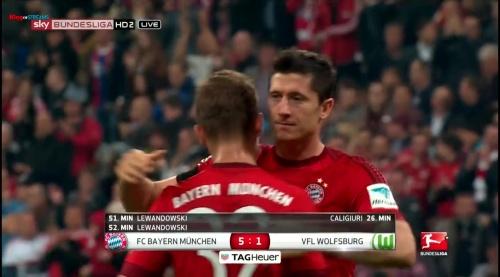 Robert Lewandowski – Bayern v Wolfsburg 4