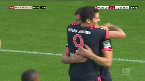 Robert Lewandowski – Mainz v Bayern 3