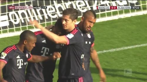 Robert Lewandowski – Mainz v Bayern 8