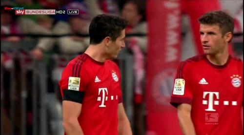 Robert Lewandowski & Thomas Müller – Bayern v Wolfsburg 2