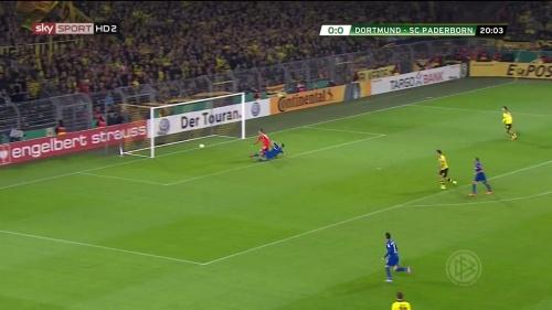 Roman Bürki – Dortmund v Paderborn – DFB Pokal 15-16 2