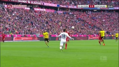 Thomas Müller – 1st goal – Bayern v Dortmund 11