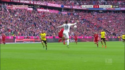 Thomas Müller – 1st goal – Bayern v Dortmund 12